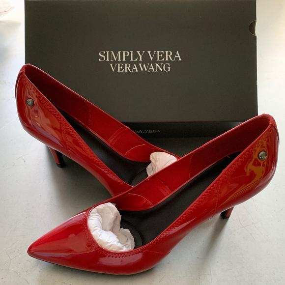Simply Vera Vera Wang Red Pumps Heels